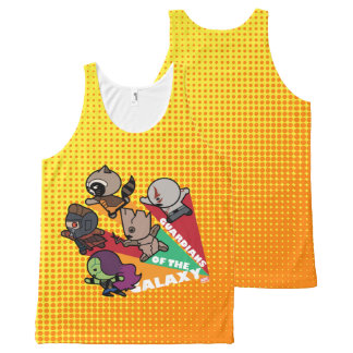 Kawaii Guardians of the Galaxy Group Jump All-Over Print Tank Top