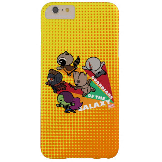 Kawaii Guardians of the Galaxy Group Jump Barely There iPhone 6 Plus Case