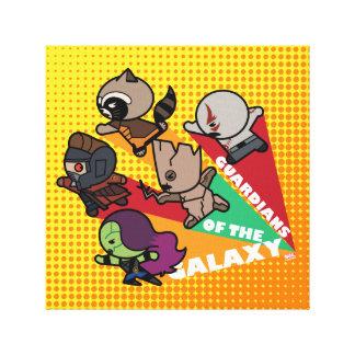 Kawaii Guardians of the Galaxy Group Jump Canvas Print
