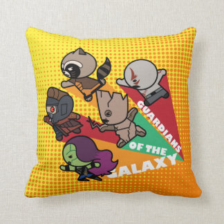 Kawaii Guardians of the Galaxy Group Jump Cushion