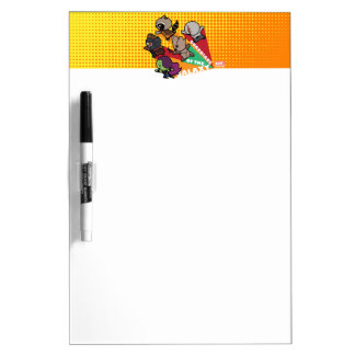 Kawaii Guardians of the Galaxy Group Jump Dry Erase Board