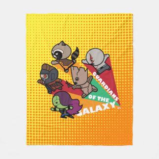 Kawaii Guardians of the Galaxy Group Jump Fleece Blanket