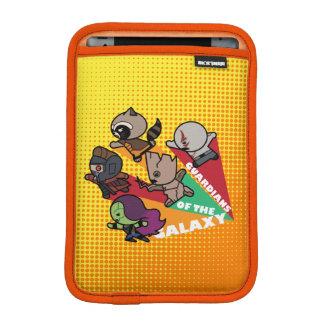 Kawaii Guardians of the Galaxy Group Jump iPad Mini Sleeve