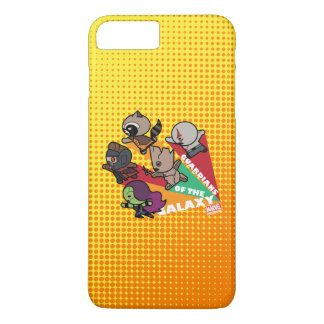 Kawaii Guardians of the Galaxy Group Jump iPhone 8 Plus/7 Plus Case
