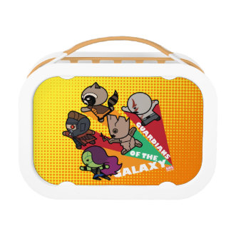 Kawaii Guardians of the Galaxy Group Jump Lunch Box
