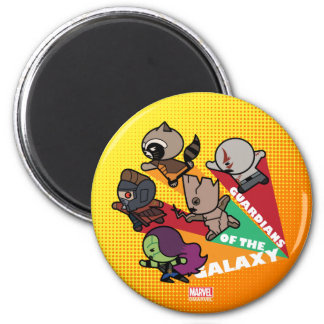 Kawaii Guardians of the Galaxy Group Jump Magnet