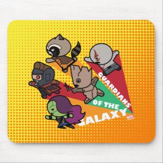 Kawaii Guardians of the Galaxy Group Jump Mouse Mat