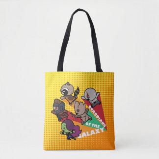 Kawaii Guardians of the Galaxy Group Jump Tote Bag
