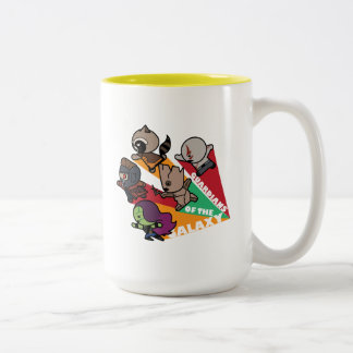 Kawaii Guardians of the Galaxy Group Jump Two-Tone Coffee Mug
