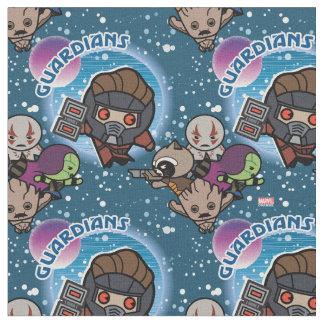 Kawaii Guardians of the Galaxy Pattern Fabric