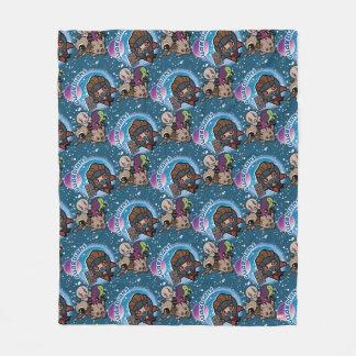 Kawaii Guardians of the Galaxy Pattern Fleece Blanket