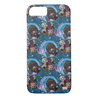 Kawaii Guardians of the Galaxy Pattern iPhone 8/7 Case