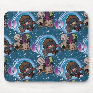Kawaii Guardians of the Galaxy Pattern Mouse Mat