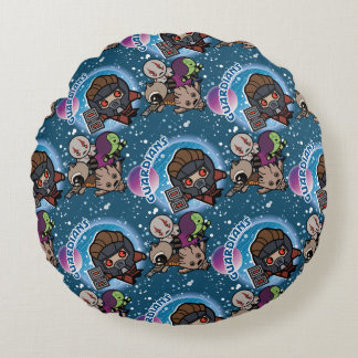 Kawaii Guardians of the Galaxy Pattern Round Cushion