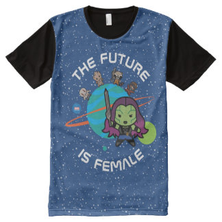 Kawaii Guardians of the Galaxy Planet Graphic All-Over Print T-Shirt