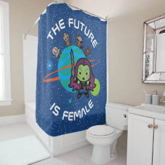 Kawaii Guardians of the Galaxy Planet Graphic Shower Curtain
