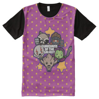 Kawaii Guardians of the Galaxy Star Graphic All-Over Print T-Shirt
