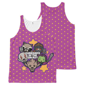 Kawaii Guardians of the Galaxy Star Graphic All-Over Print Tank Top