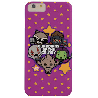 Kawaii Guardians of the Galaxy Star Graphic Barely There iPhone 6 Plus Case