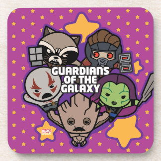 Kawaii Guardians of the Galaxy Star Graphic Coaster