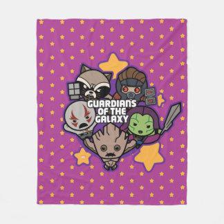 Kawaii Guardians of the Galaxy Star Graphic Fleece Blanket