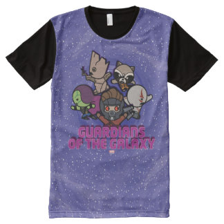 Kawaii Guardians of the Galaxy Swirl Graphic All-Over Print T-Shirt