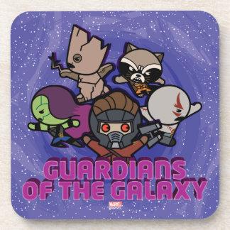 Kawaii Guardians of the Galaxy Swirl Graphic Coaster