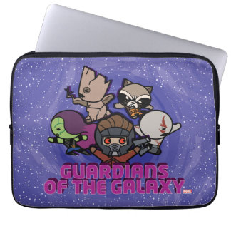 Kawaii Guardians of the Galaxy Swirl Graphic Laptop Sleeve