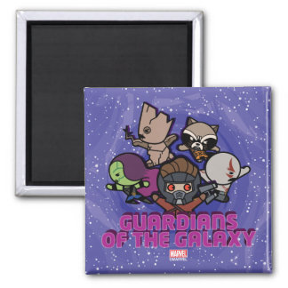 Kawaii Guardians of the Galaxy Swirl Graphic Magnet