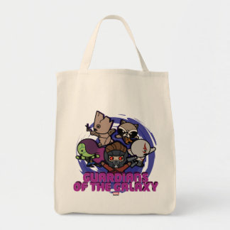 Kawaii Guardians of the Galaxy Swirl Graphic Tote Bag