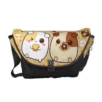 Kawaii guinea pigs messenger bags