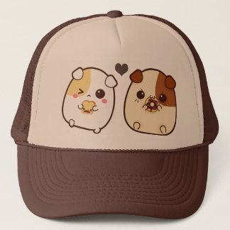 Kawaii guinea pigs trucker hat