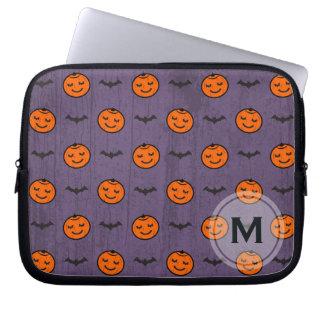 Kawaii Halloween Pumpkin Pattern Customizable Computer Sleeves