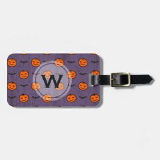 Kawaii Halloween Pumpkin Pattern Customizable Luggage Tag