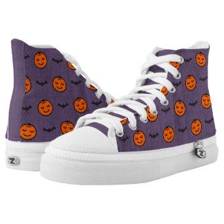 Kawaii Halloween Pumpkin Pattern High Tops