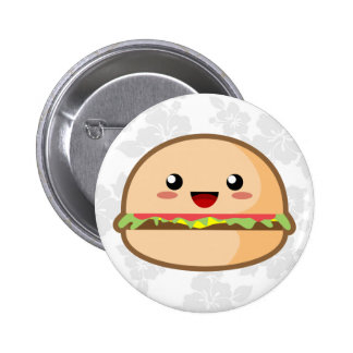 Kawaii Hamburger 6 Cm Round Badge