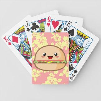 Kawaii Hamburger Bicycle Playing Cards