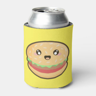 Kawaii hamburger can cooler