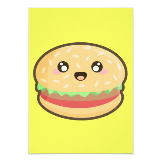 Kawaii hamburger card