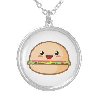 Kawaii Hamburger Round Pendant Necklace