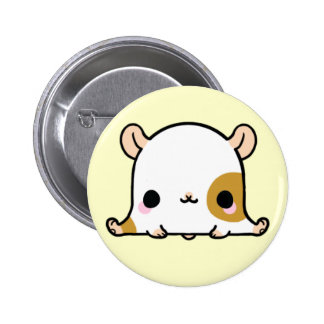 Kawaii Hampster (You change the Background!) 6 Cm Round Badge