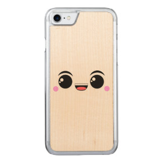 Kawaii Happy Anime Faced Carved iPhone 8/7 Case