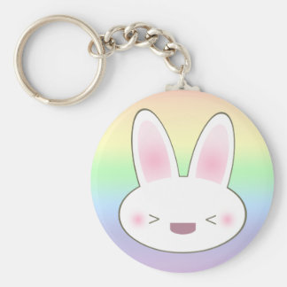 KAWAII HAPPY BUNNY KEY RING