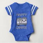 Kawaii Happy Camper Baby Boy Football Bodysuit