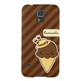 Kawaii Happy chocolate Ice cream cone Case For Galaxy S5