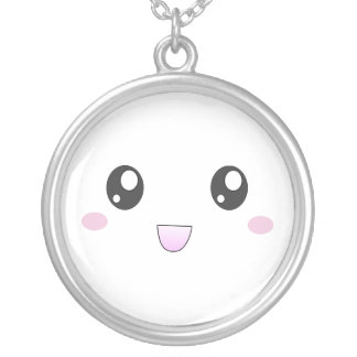 Kawaii happy face necklace