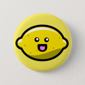 Kawaii Happy Lemon 6 Cm Round Badge