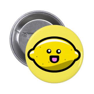 Kawaii Happy Lemon 6 Cm Round Badge