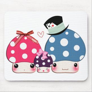 Kawaii happy mushrooms family mouse pads