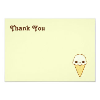 Kawaii Happy vanilla Ice cream cone Card